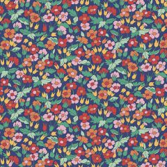 Liberty Patchwork Cotton Fabric - Carnaby - Piccadilly Poppy Summer Eve