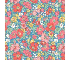 Liberty Patchwork Cotton Fabric - Flower Show Midsummer - Cosmos Flower