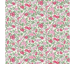 Liberty Patchwork Cotton Fabric - Flower Show Midsummer - Forget-me-not Blossom Pink