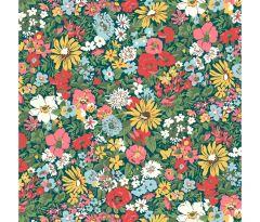 Liberty Patchwork Cotton Fabric - Flower Show Midsummer - Malvern Meadow