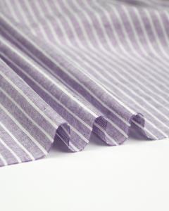 Linen & Cotton Blend Fabric - Chalk Stripe Lilac