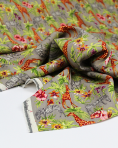 Linen & Viscose Blend Fabric - Sunset Safari