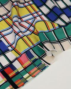 Cotton Lawn Fabric - Madeira Cube