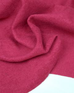 Boiled Wool Blend Jersey Fabric - Magenta
