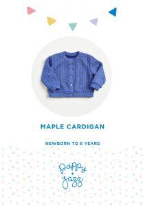 Poppy & Jazz - Paper Sewing Pattern - Maple Cardigan