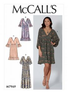 McCall's Pattern 7969 - Pullover Wrap Front Dress