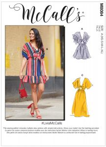 McCall's Pattern 8084 - Livia Tie Front Sun Dress