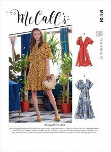 McCall's Pattern 8104 - Dawn Button Front Dress