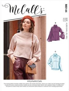 McCall's Pattern 8144 - Wythe Funnel Neck Sweater