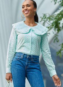 McCall's Pattern 8180 - Mallory Ruffle Collar Blouse