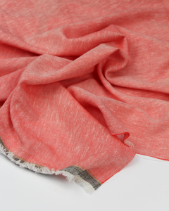 Meloni Chambray Fabric - Vermillion