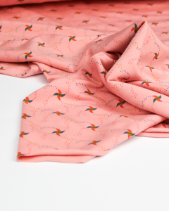 Modal French Terry Fabric - Penny Pinwheel Pink