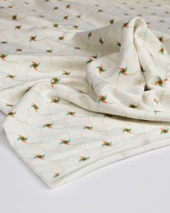 Modal French Terry Fabric - Penny Pinwheel White