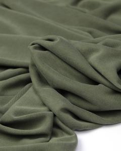 REMNANT Khaki Modal Jersey Fabric - 200cm x 148cm