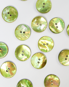 Mother of Pearl Button - Grapefruit - 18mm