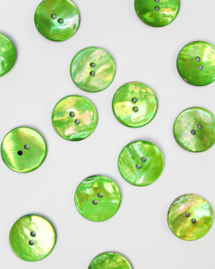 Mother of Pearl Button - Kiwi - 18mm