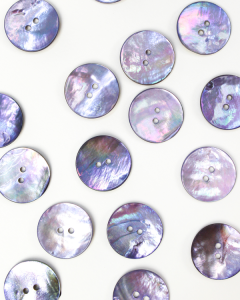 Mother of Pearl Button - Lavender - 23mm