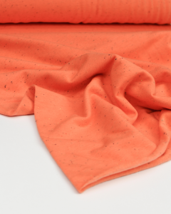 Neppy Sweatshirt Fleece Fabric - Cantaloupe