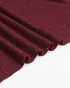 Neppy Sweatshirt Fleece Fabric - Cranberry