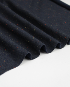 Neppy Sweatshirt Fleece Fabric - Navy