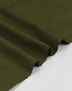 REMNANT Olive Organic Cotton Chino Fabric - 80cm x 145cm