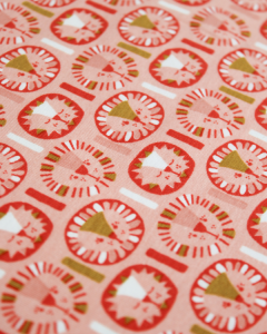 Organic Cotton Jersey Fabric - Little Leo Pink