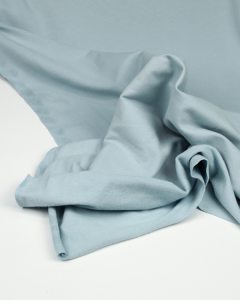 Organic Cotton Sweatshirt Fleece Fabric - Powder Blue