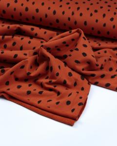 Organic Cotton Sweatshirt Fleece Fabric - Scribble Dot Terra