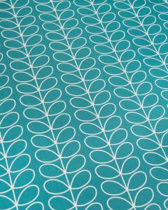 Home Furnishing Fabric - Orla Kiely - Linear Stem Deep Duck Egg