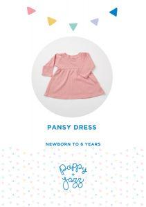 Poppy & Jazz - Paper Sewing Pattern - Pansy Dress