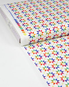 Patchwork Cotton Fabric - Alison Glass - Rainbow Star Day