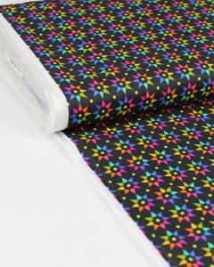 Patchwork Cotton Fabric - Alison Glass - Rainbow Star Night