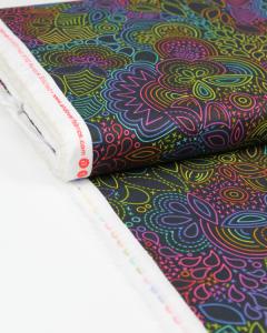Patchwork Cotton Fabric - Alison Glass - Rainbow Stitched Night