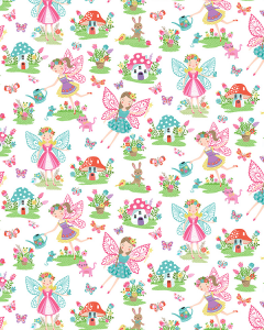 Patchwork Cotton Fabric - Daydream - Fairies