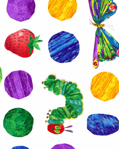 Patchwork Cotton Fabric - The Very Hungry Caterpillar - A Very Hungry Journey