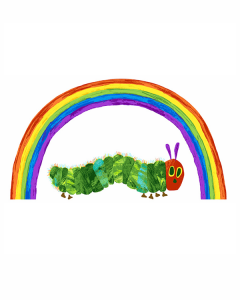 Patchwork Cotton Fabric - The Very Hungry Caterpillar - Rainbow Panel