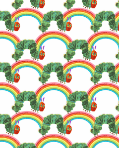Patchwork Cotton Fabric - The Very Hungry Caterpillar - Rainbows