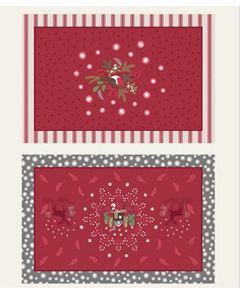 Christmas Cotton Fabric - Countryside Placemats