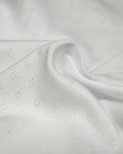 Pointelle Cotton Jersey Fabric - White
