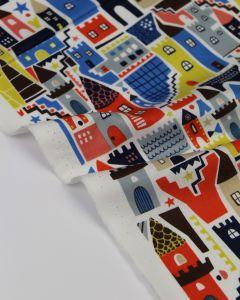 Pure Cotton Fabric - Castles & Keeps