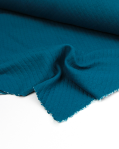 Quilted Ponte Jersey Fabric - Pacific