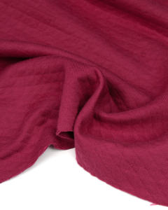 Quilted Ponte Jersey Fabric - Raspberry