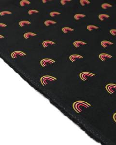 Rainbow Babycord Fabric - Black