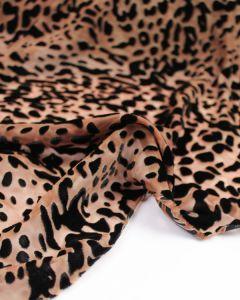 Rayon Devore Fabric - Animal Print