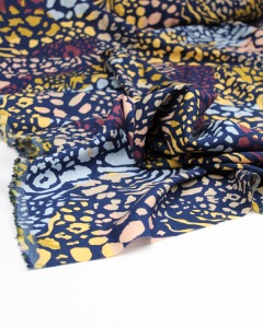 Rayon & Linen Blend Fabric - Wild Side Twilight