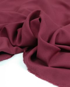 Viscose Challis Lawn Fabric - Claret