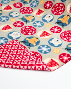 Reversible Cuddle Fleece Fabric - Christmas Crew