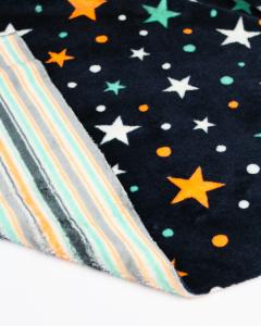 Reversible Cuddle Fleece Fabric - Starry Night