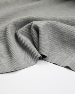Rib Jersey Fabric - Grey Marl
