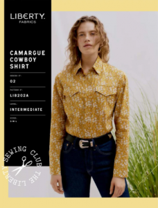 Liberty - Paper Sewing Pattern - Camargue Cowboy Shirt